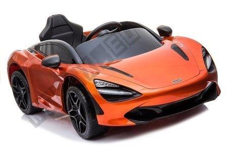 Kinderfahrzeug McLaren 720S Orange lackiert EVA-Reifen Ledersitz 2x45W Auto