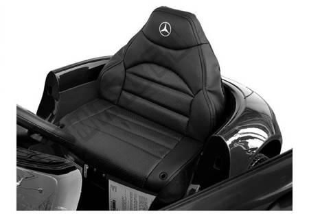 Kinderfahrzeug Mercedes AMG GT R Schwarz 2x45W EVA-Reifen 2.4G Ledersitz Auto