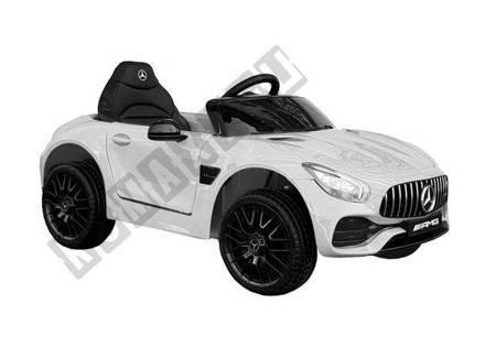 Kinderfahrzeug Mercedes AMG GT R Weiß 2x45W EVA-Reifen 2.4G Ledersitz