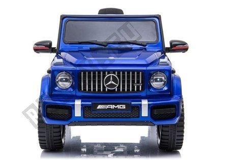 Kinderfahrzeug Mercedes G63 AMG Blau lackiert Ledersitz EVA-Reifen Auto