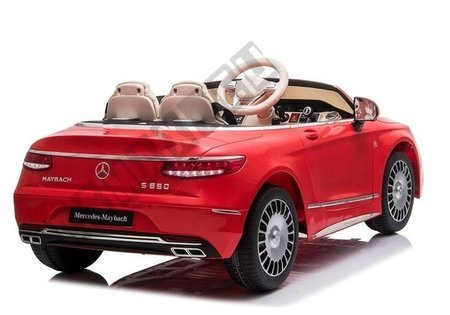 Kinderfahrzeug Mercedes Maybach Rot EVA-Reifen Ledersitz Auto