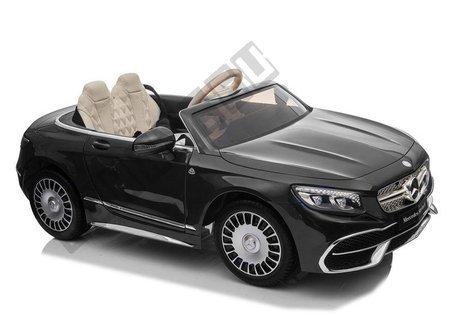 Kinderfahrzeug Mercedes Maybach Schwarz lackiert EVA-Reifen Ledersitz Auto
