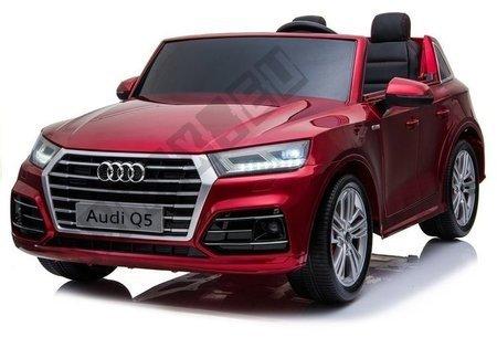 Kinderfahrzeug Q5 Rot lackiert EVA-Reifen Ledersitz LCD Panel USB SD MP3
