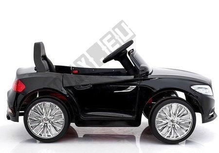 Kinderfahrzeug S2188 Schwarz Lackiert 2.4G Ledersitz LED Frontscheinwerfer