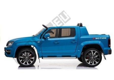 Kinderfahrzeug VW Amarok Blau 4x45W Ledersitz 2.4G EVA-Reifen Radio FM Auto
