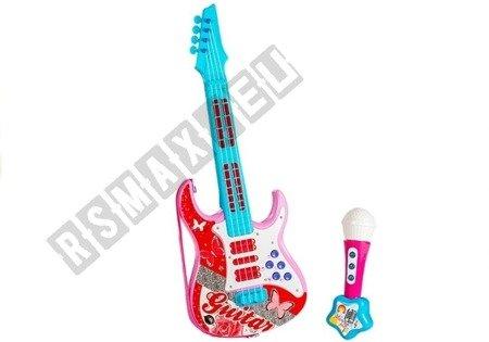 Kindergitarre Spielzeugsgitarre Gitarre Sound- und Lichteffekte ROSA Spielzeug