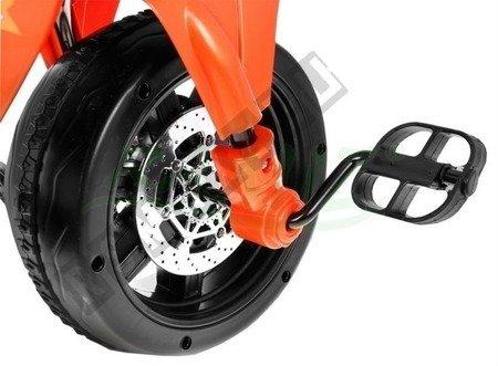 Kindermotorrad Elektromotorrad Dreirad Kinderfahrzeug Kinderfahrrad 2in1 Orange