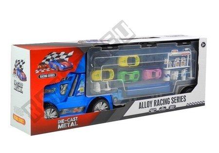 Lkw mit Autos + Zubehör Blau