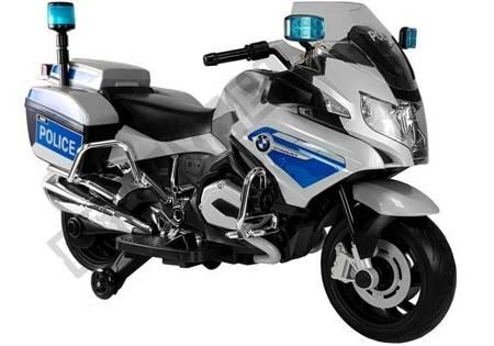 Motorrad BMW Polizei Silbern Frontscheinwerfer EVA-Reifen Motorrad