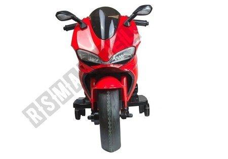 Motorrad SX 1628 Rot Ledersitz Frontscheinwerfer USB-Eingang Motorrad für Kind
