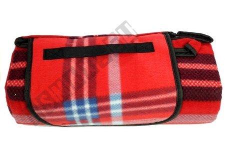 Picknickdecke 150x 200cm dunkelblau-rot weiches Material