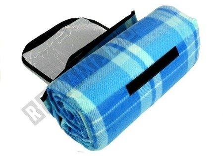 Picknickdecke 150x200cm blau kariert weiches Material