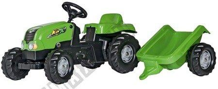 Rolly Kid Trettraktor mit grünem Anhänger!