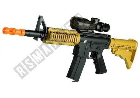 Spielzeug M4 Gewehr und Pistolenschaum und Wasserpistole