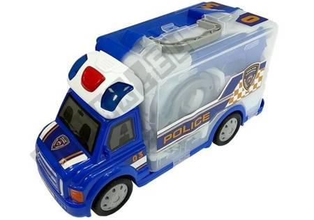 Tragbares Auto mit Zubehör Polizeiauto