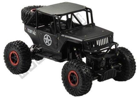 ferngesteuertes Auto Jeep R/C 1:18 Schwarz Akkus Ladegerät Auto