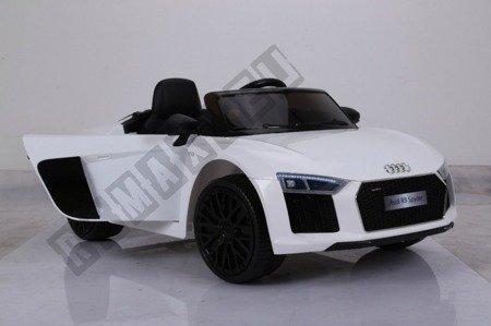 Auto na akumulator Audi R8 Spyder licencja biały