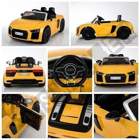 Auto na akumulator Audi R8 Spyder pilot 2,4G żółty