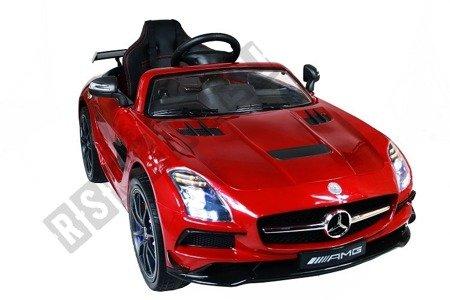 Auto na akumulator Mercedes SLS bordowy lakier