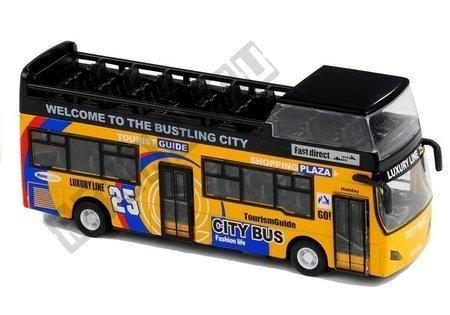 Autobus Piętrowy Turystyczny 1:32 Otwierane Drzwi Zielony