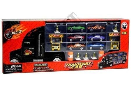 Ciężarówka Tir z Rączką + 6 Sportowych Autek