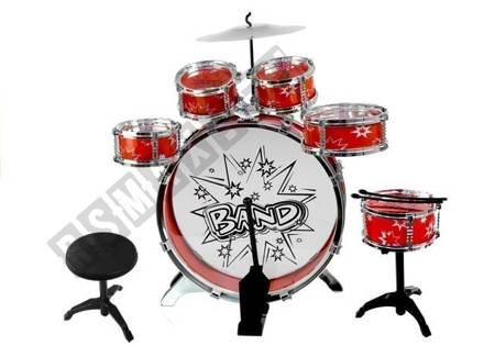 Duża Perkusja 6 Bębnów + Talerz + Pedał Zabawka