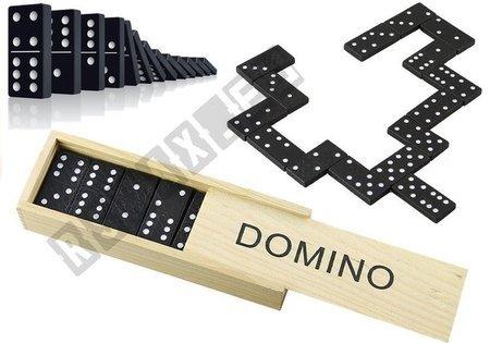 Gra Domino w Drewnianym Pudełku 28 Elementy