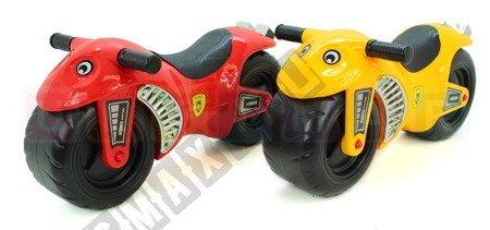 Jeździk motorek rowerek biegowy ścigacz żółty