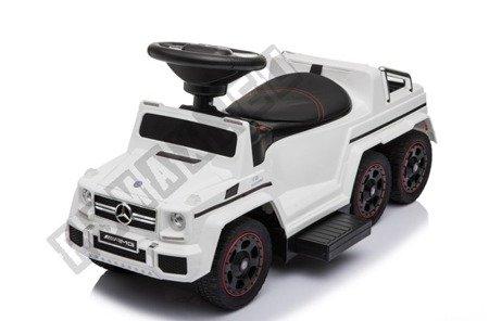 Jeździk na akumulator Mercedes G63 biały NEW !