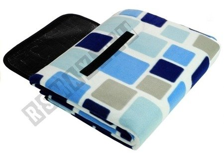 Koc 150x250cm niebiesko-biały 2809