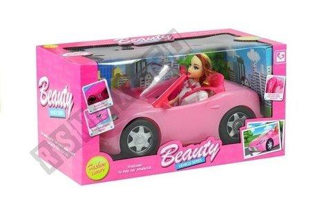 Lalka w Podróży Kabrioletem Auto dla Lalki