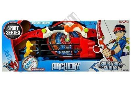Łuk dla dzieci z bezpiecznymi strzałkami i tarczą