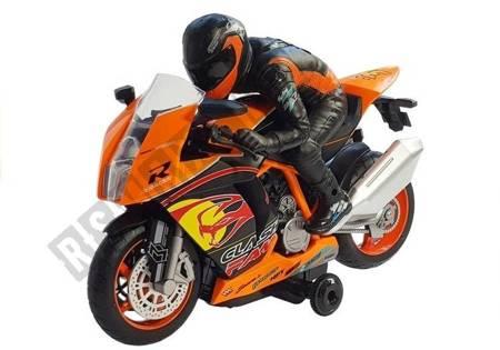Motocykl Zdalnie Sterowany R/C Pomarańczowy 2.4G