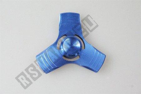 Oryginalny super FIDGET SPINNER alum.  niebieski