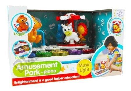 Pianinko Ze Zwierzątkami + Karuzela Plac zabaw