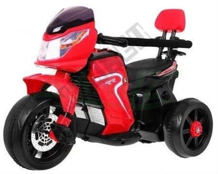 Pojazd Motorek-Rowerek-Pchaczyk 3w1 czerwony