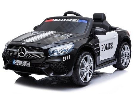 Pojazd na Akumulator Mercedes SL500 Policja Czarny