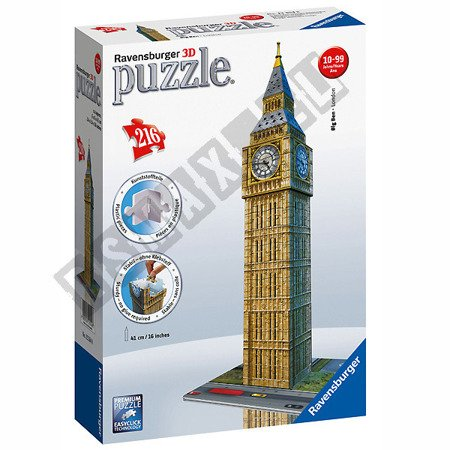 Puzzle przestrzenne 3D Big Ben 216 elementów