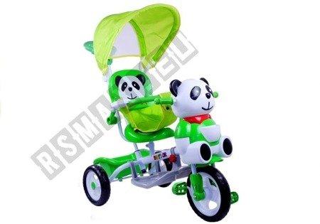 Rowerek Trójkołowy Panda Zielony Dla Dzieci