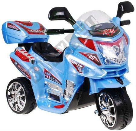 Super motorek dla dzieci na akumulator niebieski