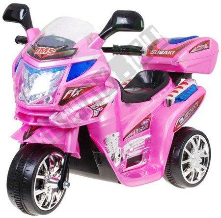 Super motorek dla dzieci na akumulator różowy