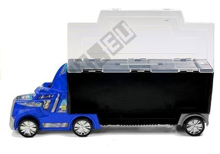Tir Ciężarówka z Autkami + Akcesoria Niebieski