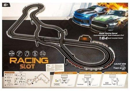 Tor Wyścigowy 2 Autka Kontrolery Slot Cars 1:64