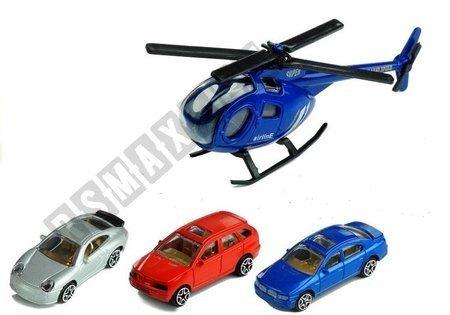 Zestaw Parking Poziomowy Winda 3 Autka Helikopter